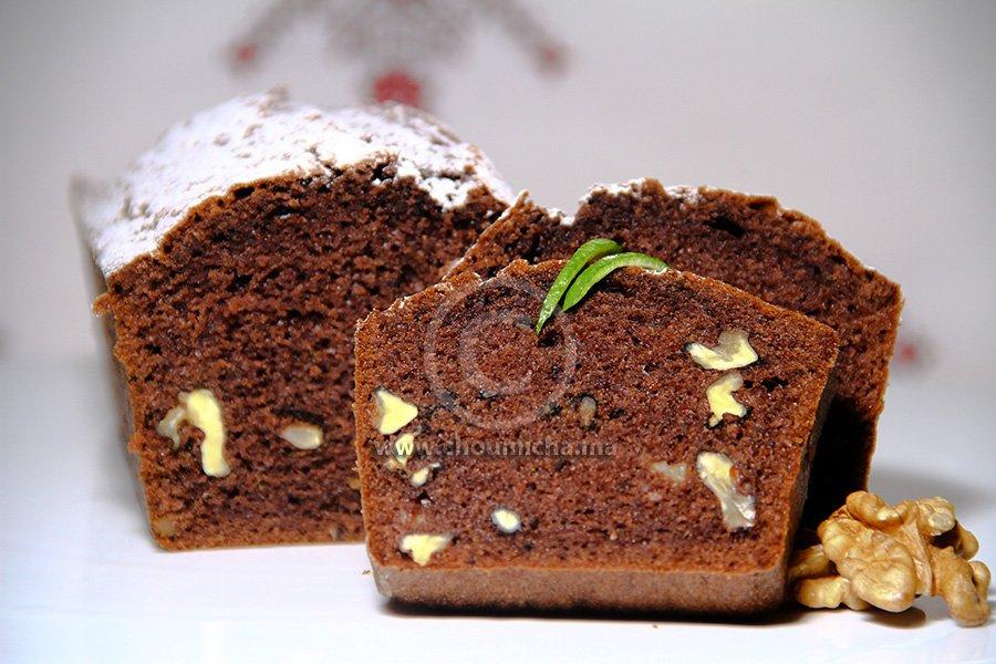 recette cake au chocolat et aux noix. Black Bedroom Furniture Sets. Home Design Ideas