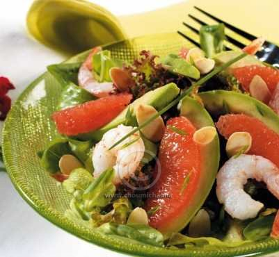 recette salade d avocat et pomelo aux crevettes. Black Bedroom Furniture Sets. Home Design Ideas