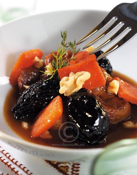 Recette tajine de jarret de veau au potiron et aux pruneaux caram lis s - Jarret de veau au four ...