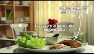 Sandwichs de poulet à l'estragon