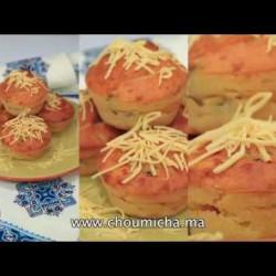 Muffins au fromage et à la dinde fumée