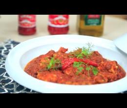 Cervelle Mecharmela à la sauce tomate