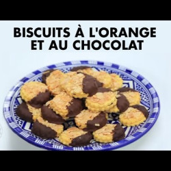 Biscuits à l'orange et au chocolat