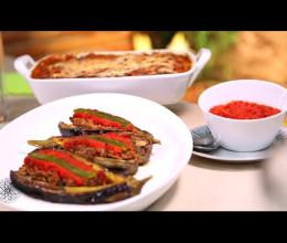 Gratin d'aubergines & Aubergines farcies à la viande hachée