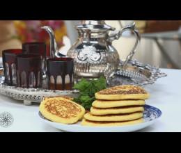 Harcha à la semoule façon pancake