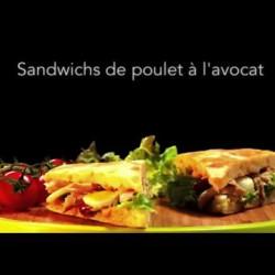 Sandwichs de poulet à l'avocat