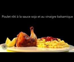 Poulet rôti à la sauce soja et au vinaigre balsamique