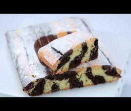 Cake zébré vanille-chocolat