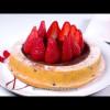 Tarte moelleuse à la ganache et aux fraises
