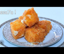 Cubes croustillants de mozzarella