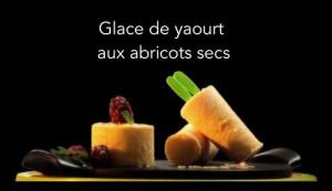 Glace de yaourt aux abricots