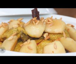 طاجين أفخاذ الدجاج بالتفاح