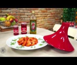 Tajine de crevettes à la sauce tomate