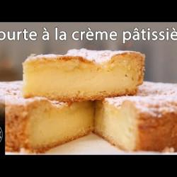 Tourte à la crème pâtissière - Gâteau Basque