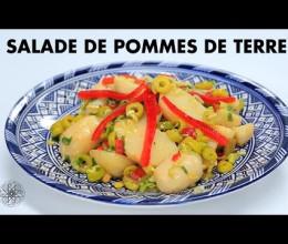 Salade de pommes de terre aux olives et aux poivrons